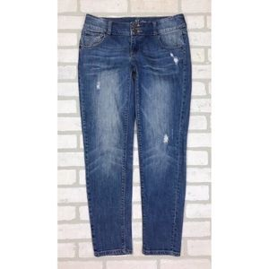 New York & Company Distressed Slim Slouch Jeans